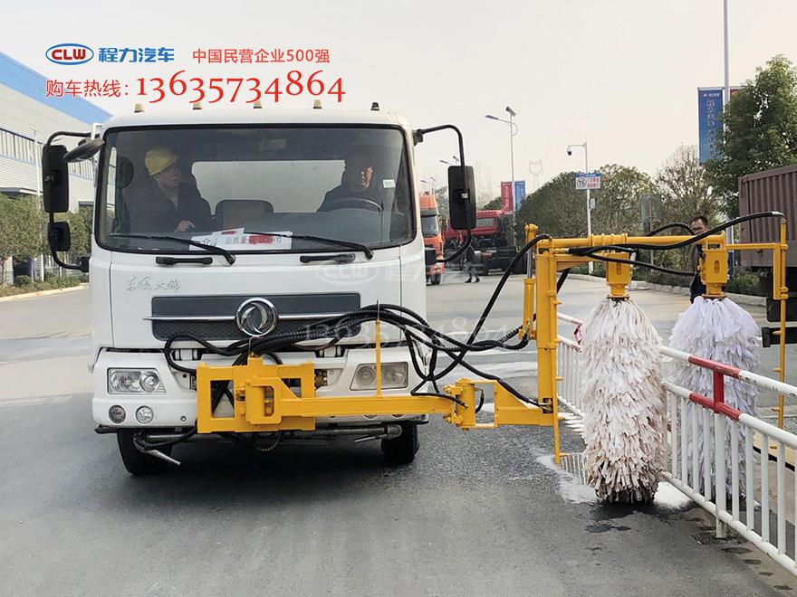 天锦洒水车改装城市护栏清洗机